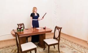 Кутузовский ЗАГС - зал торжественной регистрации, ведущая